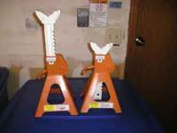 For sale are the following. Pair of 3 ton jackstands.