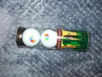 A set of 2 custom golf balls made just for NBC more
