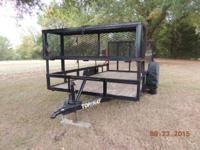 TOP HAT Utility/Lawn Trailer 12'X6.5' 4.5 Swing down