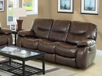 Harvey Reclining Sofa Group. Covered in genuine bonded