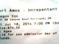 Tori Amos - Unrepentant Geraldines Tour Fri July 18,