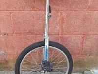 Torker Unistar CX unicycle. It sports a 20x1.75 wheel,