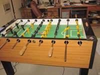 Foosball Table by Tornado in excellent condition.