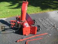 "For Sale Toro Wheel Horse 42"" snow blower like new"