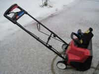 This snow blower is practically new. We bought it in