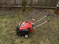"This is a 20"" Toro snowthrower. Runs just fine. $39"
