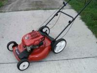 "This is a Toro 22"" cut high wheel self propelled"