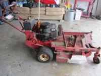 "Toro 36"" walk behind belt drive mower runs, needs some"