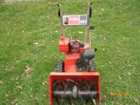 "21"" snow thrower easy start, runs very good Call Don"