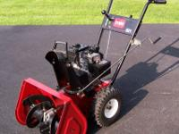 For Sale a Toro snowblower. 5HP Tecumseh motor 21""