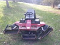 THIS IS A TORO REELMASTER 5300-D. THE UNIT IS SERVICED