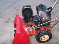 For sale nice toro 5 hp 21 inch 2 stage snow blower