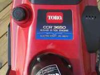 TORRO CCR 3650 ELECTRIC START SNOWBLOWER 6.5 hp r tek