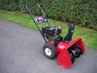 Toro 7/24 snowblower 7hp engine with 24inch clearing
