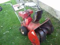 Toro snowblower 726. Older but runs great. Starts