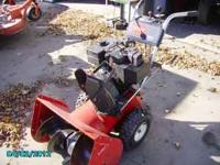 A nice 824 2 stage blower 24 inch cut electric start