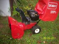 For sale is this Toro 8hp dual stage electric start