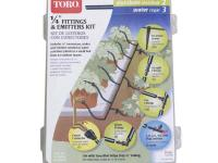 The Toro 1/4 in. Drip Emitter and Fittings Kit includes