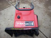 TORO CR20E ELECTRIC START SNOWBLOWER|IN GOOD