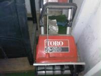 For sell: Toro electric snow thrower, in like new,