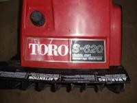 Toro model S620 with electric starter,clears a 20 inch