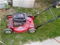 starts right up cuts grass just fine needs nothing 75
