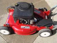 "21"" TORO MULCHUNG MOWER,LIKE NEW CONDITION.THIS WAS"