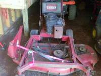 Toro walk behinde mower for sale. Looking for trades