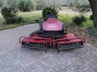 "Toro reelmaster 216-D riding mower, has 72"" cut, 3"
