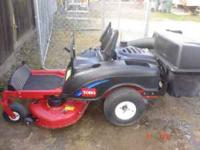 I am selling my Toro 0 turn lawnmower for $1500.00 OBO.