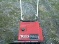 Toro S-200 gas powered snowblower. Excellent condition.