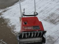 "Toro S200 20 "" Recoil and ELECTRIC start snowblower."