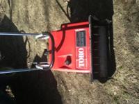 TORO S200 WITH ELECTRIC START CLEAN MACHINE HAS NEW