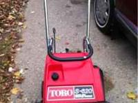 I have a toro s620 single stage snowblower for sale.
