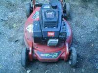 Toro self propelled mower called super recycler.