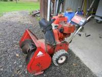 Older toro snowblower 24 inch 2 stage. Starts first