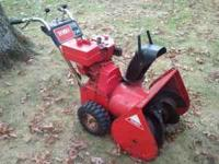 "7hp, 2 stage snowblower with a 24"" path. Runs and"