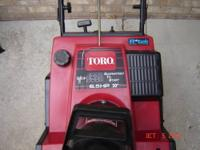 This is A used TORO CCR 3650 has the 6.5hp R-TEK Motor
