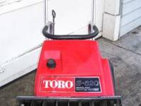 toro s200 with electric start. $75. toro s620 manual