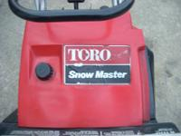 TORO SNOWMASTER SNOWBLOWER ~IN GREAT CONDITION ~CLEARS