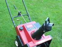 "Toro Snowthrower CCR 2000 4.5 hp 20"" wide. Call"