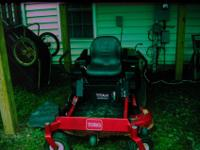 22HP Briggs & Stratton Engine, 50 inch 3-blade deck,