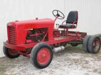 red dually toro tractor with hydraulic hook ups- I'm