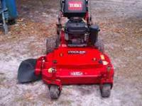 36 in walk behind mower with 13 hp kawasaki motor