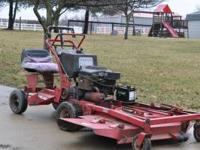 "1992 62"" Toro Proline Walkbehind mower with a sit down"
