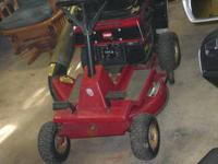 This is a nice little mower & it runs great It comes