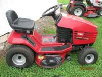 For sale is a Toro Wheel Horse riding mower. 12.38 XL.