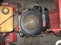 TORO WHEEL HORSE RIDING MOWER 5 SPEED, 12.5 HSPW POWER