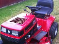 Toro Wheelhorse riding lawn mower. This is a good mower