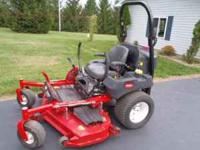 "Toro Z Master 60"" commercial diesel zero turn mower."